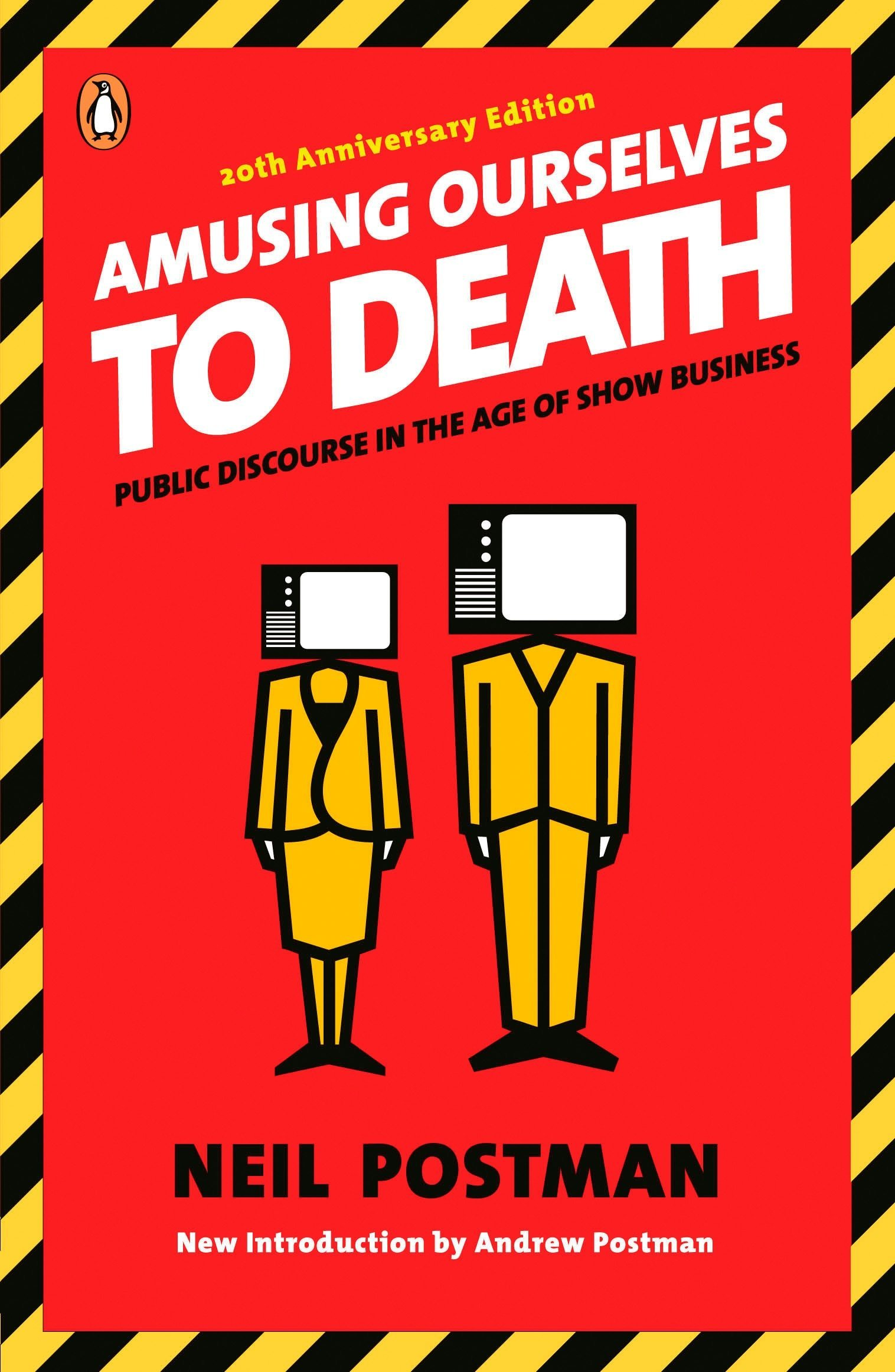 Amusing Ourselves to Death - by Neil PostmanWhat happens when media and politics become forms of entertainment? As our world begins to look more and more like Orwell's 1984, Neil's Postman's essential guide to the modern media is more relevant than ever.Originally published in 1985, Neil Postman's groundbreaking polemic about the corrosive effects of television on our politics and public discourse has been hailed as a twenty-first-century book published in the twentieth century. Now, with television joined by more sophisticated electronic media—from the Internet to cell phones to DVDs—it has taken on even greater significance. Amusing Ourselves to Death is a prophetic look at what happens when politics, journalism, education, and even religion become subject to the demands of entertainment. It is also a blueprint for regaining control of our media, so that they can serve our highest goals.