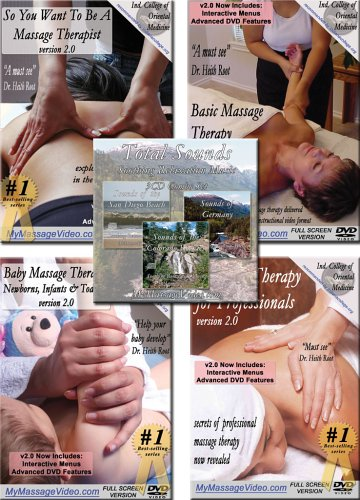 The All You Want to Know About Massage Course - This is a combo pack of of two most popular massage instructional videos. This two video set takes the viewer from no knowledge of massage up through and including what professional therapists understand.The massage therapy instructional DVD is the full-unabridged version of our basic massage video and teaches the techniques used by professional massage therapists in everything from Swedish massage to deep tissue and pressure point therapy.The video is narrated and demonstrated by a certified massage therapist instructor with years of training and professional experience. The video skillfully covers all the basic introductory massage techniques and shows some advanced maneuvers while providing all the tools necessary to learn the healing art of massage. This video is a great instructional device whether the intent is massaging for fun or pursuing massage therapy as a career.Professional Massage Therapy has long been a secret to the general public but now the secrets are revealed through this video. In this video class is taught by a massage therapist instructor with over 20 years of teaching who prepares massage students to take state certification tests. While each state has different certification or registration procedures for therapists, the principles and knowledge are the same no matter where you go.This video shows you what you've always wanted to know. See what up until now could only be seen by enrolling in a professional massage therapy school taking many months and several hundreds of dollars in fees. We bring the hidden techniques of massage therapy to you for use in the comfort of your own home. You can even watch this instructional video over and over again to improve and perfect on your massage therapy technique.
