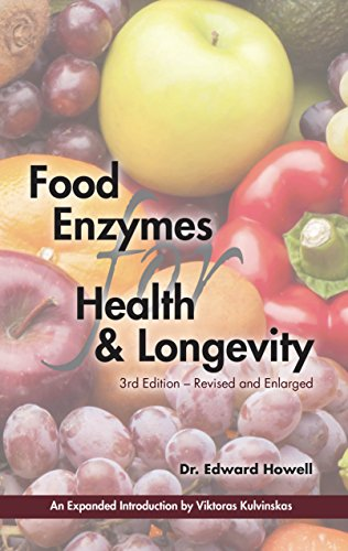 Food Enzymes for Health and Longevity - by Dr. Edward HowellA Classic and important book on enzymes. This is one of the first books I read regarding the importance of Live Foods Nutrition.This new, enlarged edition of the classic book contains over 400 references to scientific literature that contributed to the formulation of Dr. Howell's revolutionary Food Enzyme Concept. Minor corrections and modifications have been made for greater clarity, and a new glossary of scientific terms has been incorporated to facilitate understanding of the contents. Included in the book is an interview by Viktoras Kulvinskas with Dr. Edward Howell.