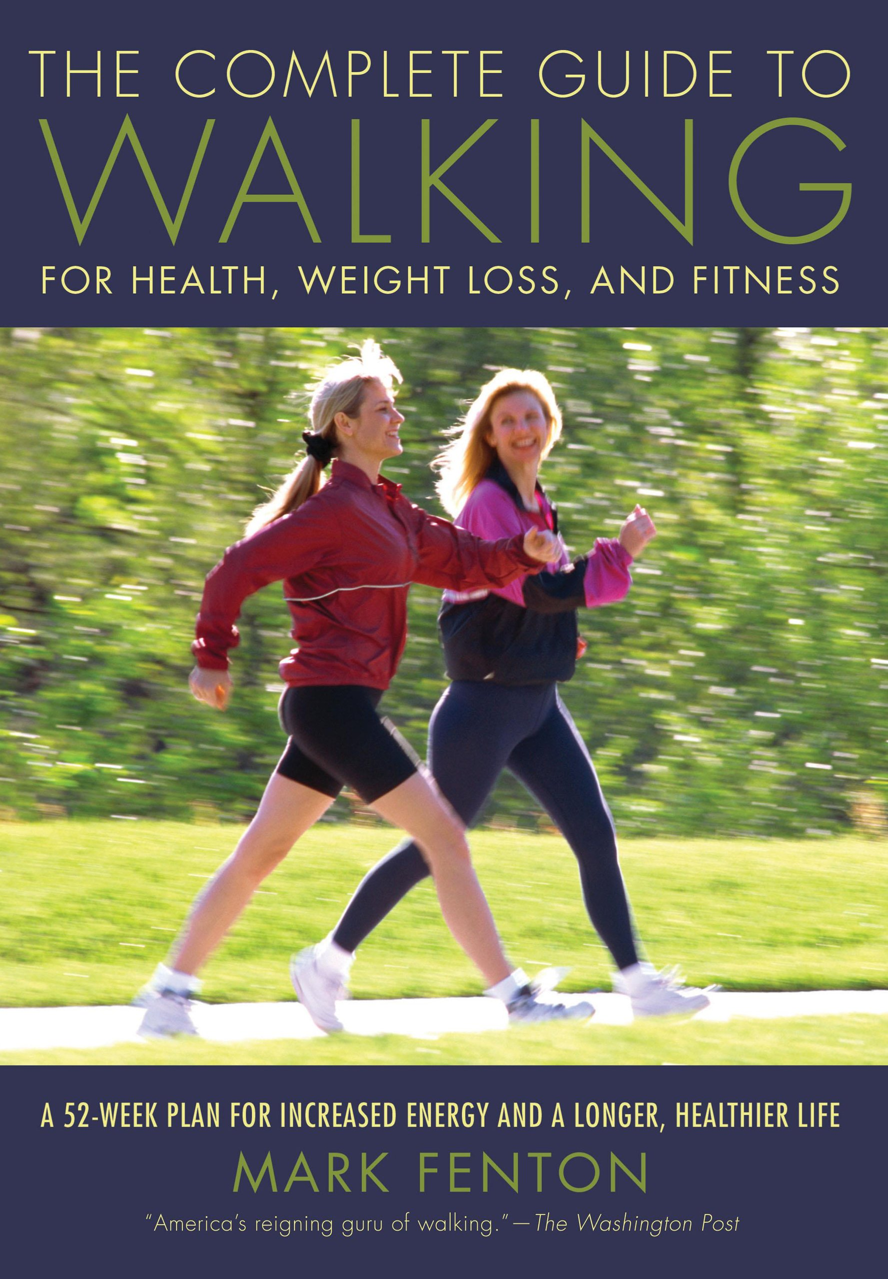 "the complete guide to walking - By Mark FentonThis comprehensive, approachable guide to all things walking is conversational in tone and gives a wealth of information about walking without being dry. The focus here is on fitness and health, not weight loss per se, which is refreshing. My favorite quote from the book is: ""In an ideal world… our greatest concern about our bodies would simply be wringing the most life out of them. We'd want the longest, healthiest, most energetic, active adventurous lives our bodies could offer."""