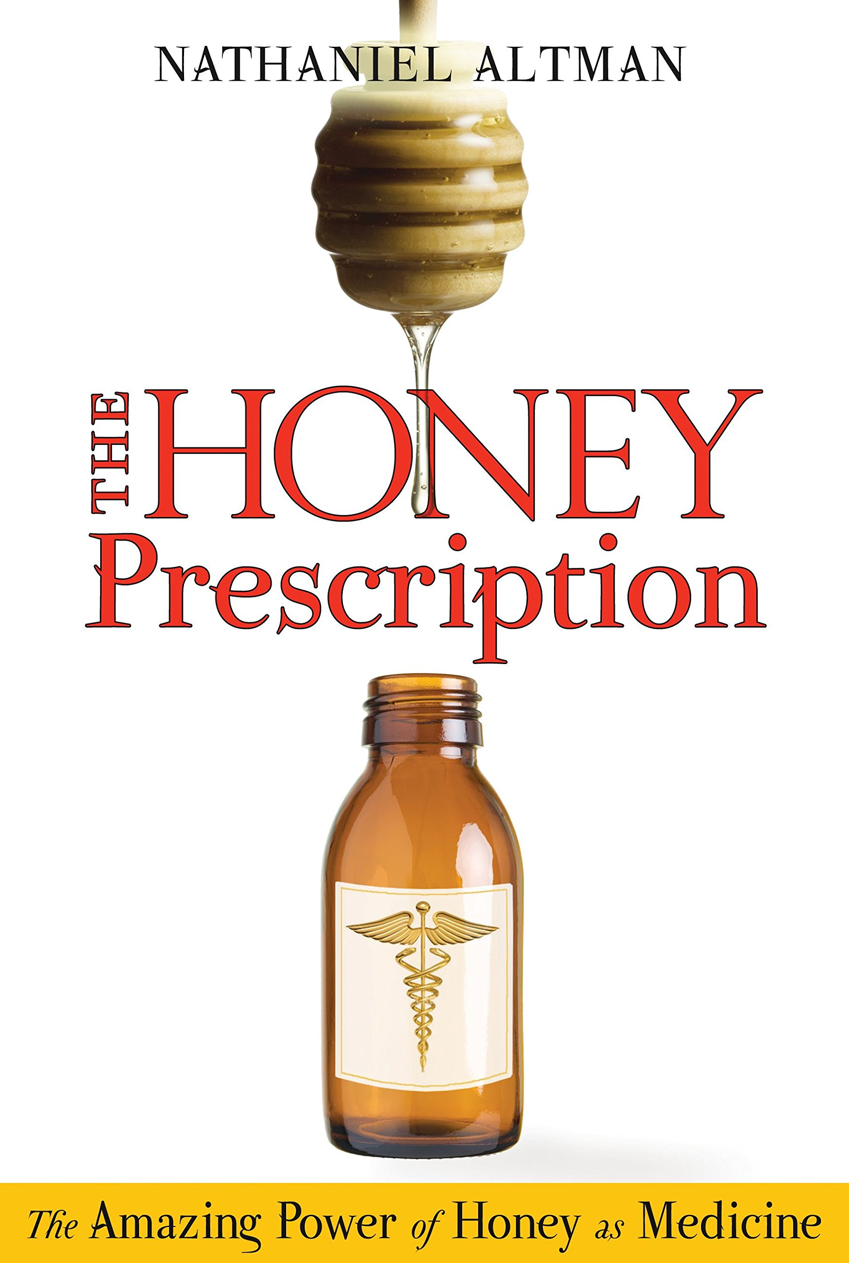 "the honey prescription: the amazing power of honey as medicine - By Nathaniel AltmanExplores the latest scientific research on the healing powers of honey. The Honey Prescription:• Explains the physiological reasons why honey is so effective and includes recipes for honey-based remedies for many different ailments• Discusses the sacred role of bees from ancient Egypt to modern times and the problem of Colony Collapse Disorder (with methods for protecting hives)• Reveals the healing power of honey for many common problems–from burns, ulcers, and conjunctivitis to tooth decay, diabetes, and cystic fibrosis–and honey's ability to kill superbugs like E. coliThe use of honey as a healing agent is nothing new. It was an ingredient in medicinal compounds and cures made by Egyptian physicians 5,000 years ago, and its medical use has been found in other ancient practices from traditional Chinese medicine and Indian Ayurveda to Mayan shamanism. In the past ten years there has been an explosion in scientific research on honey as medicine at universities, research centers, and medical clinics around the world.Presenting the very latest scientific and medical evidence of the healing properties of honey–including that from the Honey Research Unit at the University of Waikato in New Zealand–Nathaniel Altman explores the broad spectrum of medicinal uses of honey and how these remedies can be used safely at home as well as by licensed health practitioners. He includes an extensive selection of honey-based recipes that can be used to treat common health problems–from burns, conjuctivitis, and ulcers to tooth decay, diabetes, and cystic fibrosis. He explains the physiological reasons why honey is so effective in treating antibiotic-resistant diseases with no side effects and honey's ability to kill ""superbugs"" like E. coli and MRSA (Methicillin-resistant Staphylococcus aureus). Drawing on centuries of material from historical and folk medicine sources, he also examines the sacred role of bees from ancient Egypt onward and the modern problem of Colony Collapse Disorder, including methods for protecting our precious hives."