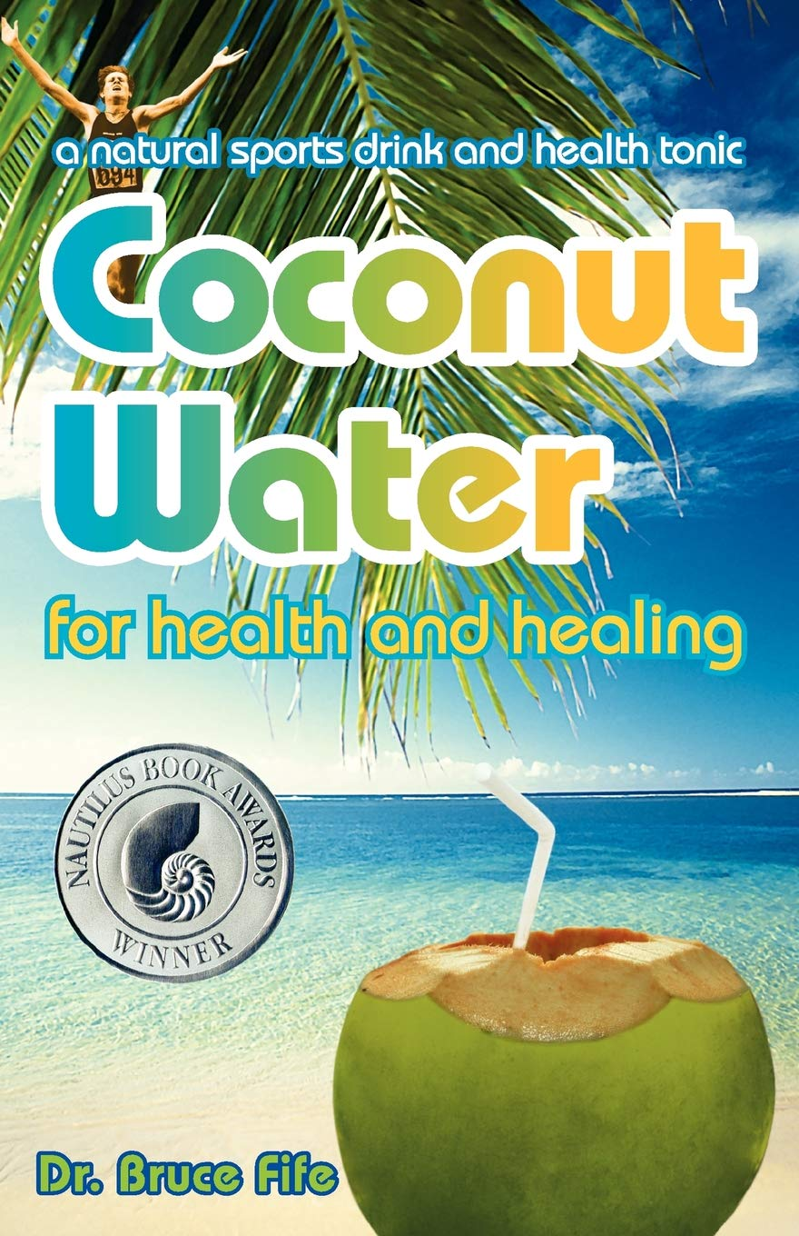 Coconut Water for Health and Healing - by Bruce Fife, NDCoconut water is a refreshing beverage that comes from coconuts. It's a powerhouse of nutrition containing a complex blend of vitamins, minerals, amino acids, carbohydrates, antioxidants, enzymes, health enhancing growth hormones, and other phytonutrients. Because its electrolyte (ionic mineral) content is similar to human plasma, it has gained international acclaim as a natural sports drink for oral rehydration. As such, it has proven superior to commercial sports drinks. Unlike other beverages, it is completely compatible with the human body, in so much that it can be infused directly into the bloodstream. In fact, doctors have used coconut water successfully as an intravenous fluid for over 60 years.Coconut water's unique nutritional profile gives it the power to balance body chemistry, ward off disease, fight cancer, and retard aging. History and folklore credit coconut water with remarkable healing powers, which medical science is now confirming.