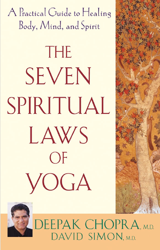 "The Seven Spiritual Laws of Yoga - by Deepak ChopraA Conversation with Deepak Chopra on ""The Seven Spiritual Laws of Yoga""1. Why do you think yoga has become so popular in the west lately? People are increasingly aware of the harmful effects of stress on their bodies and minds. Yoga offers a complete mind/body program to reduce stress, while enhancing flexibility, strength and balance. People practicing yoga quickly experience a deeper connection to their bodies with improved vitality.2. How is yoga different from stretching? Yoga is stretching with awareness. It's a technology to enhance mind body integration. Using attention and intention, yoga provides benefits to the mind and body beyond that gained through the stretching of muscles.3. How does yoga benefit the body? A perfect exercise program enhances flexibility, improves strength and increase cardiovascular fitness. Yoga is a powerful tool for enhancing flexibility and strength and can, through various specific sequences of postures called Surya Namaskar (Sun Salutations), add to cardiovascular fitness. Scientific studies of yoga have shown that it can help relieve low back pain, arthritis and symptoms of carpal tunnel syndrome. It can help people with asthma and chronic bronchitis breathe easier. It can normalize blood pressure and stabilize blood sugars.4. How does yoga benefit the mind? We are seeing epidemics of depression, anxiety and drug addiction in our society as a result of disturbed thinking. In these challenging times, people perceive their environment as threatening, which triggers thoughts that disturb their enthusiasm for life. Scientific studies on the psychological benefits of yoga have repeatedly demonstrated that yoga can help relieve depression, lessen anxiety, reduce smoking, ease chronic pain, stabilize blood sugar levels and reduce the use of both prescription and nonprescription psychoactive drugs."