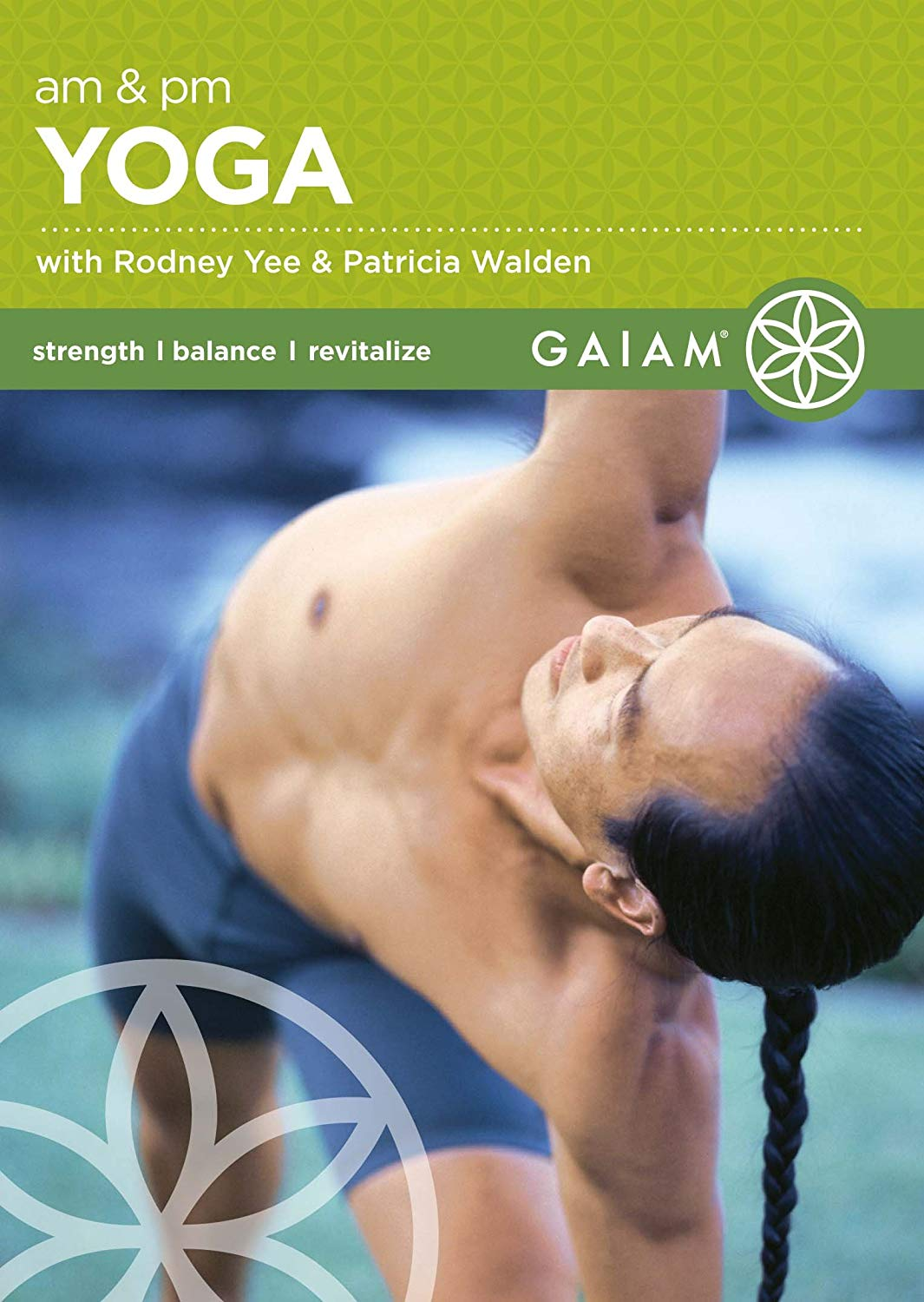 [DVD] A.M. and P.M. Yoga for Beginners - Rodney Yee and Patricia Walden present this twice-a-day yoga workout designed for busy beginners. Rodney Yee presents a daily 15-minute morning workout designed to increase circulation, improve mobility, and bring clarity to your mind, while Patricia Walden leads a 20-minute evening routine designed to quiet the mind after the stress of the day.