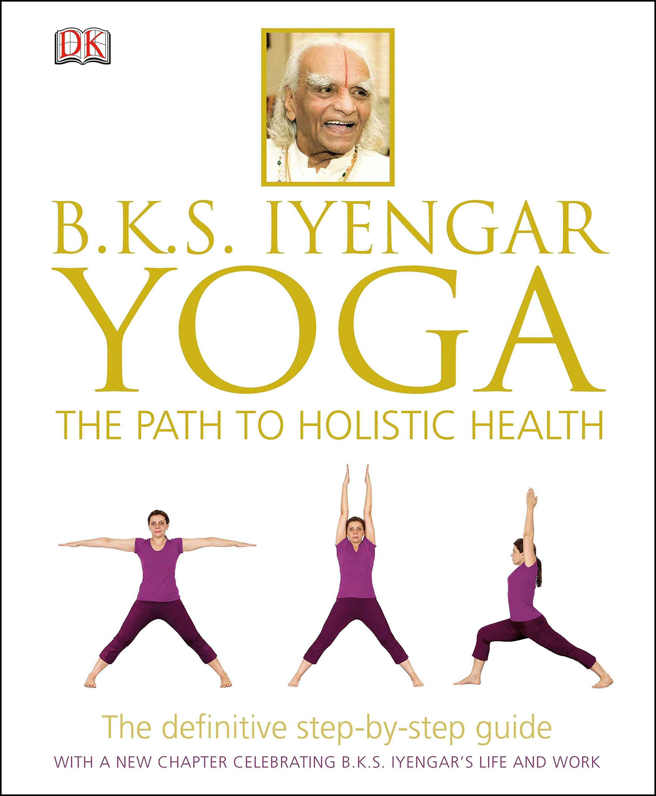 B.K.S. Iyengar Yoga: The Path to Holistic Health - by B.K.S. IyengarIn BKS Iyengar Yoga: The Path to Holistic Health, the guru himself guides you through over 55 yoga poses, each with step-by-step instructions illustrated in full colour. Iyengar even explains his philosophy throughout the book - it's like having yoga classes with your own personal instructor.A special, 20-week beginners' yoga course makes yoga accessible for those of all ages and abilities. 20 classic Iyengar yoga poses have a unique, 360-degree presentation so that you can see the correct form from all angles.Specially developed yoga sequences help you to alleviate more than 80 ailments, ranging from asthma and arthritis to varicose veins.