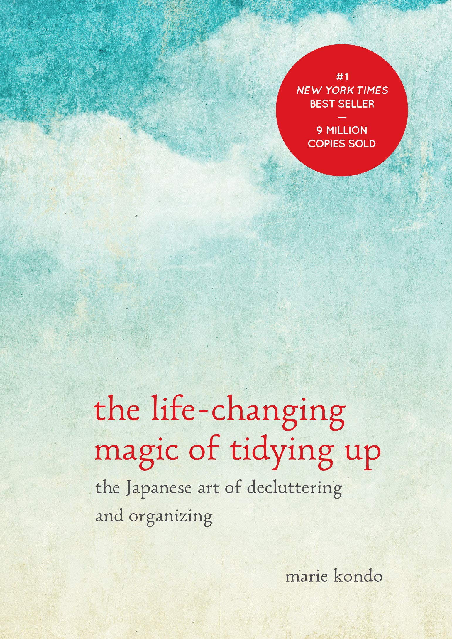 "The Life-Changing Magic of Tidying Up - by Marie KondoDespite constant efforts to declutter your home, do papers still accumulate like snowdrifts and clothes pile up like a tangled mess of noodles?Japanese cleaning consultant Marie Kondo takes tidying to a whole new level, promising that if you properly simplify and organize your home once, you'll never have to do it again. Most methods advocate a room-by-room or little-by-little approach, which doom you to pick away at your piles of stuff forever. The KonMari Method, with its revolutionary category-by-category system, leads to lasting results. In fact, none of Kondo's clients have lapsed (and she still has a three-month waiting list). With detailed guidance for determining which items in your house ""spark joy"" (and which don't), this international bestseller featuring Tokyo's newest lifestyle phenomenon will help you clear your clutter and enjoy the unique magic of a tidy home—and the calm, motivated mindset it can inspire."