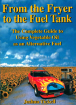 From the Fryer to the Fuel Tank by Joshua Tickell - (2003, 162 pages, softcover) – The complete guide to using vegetable oil as an alternative fuel. As pollution envelops the world's cities, temperatures on planet Earth rise, and once rich oil fields run dry, researchers scramble to find solutions to the impending transportation crisis. But the fuel of the future may be hidden in places nobody thought to look. In this book, expert Joshua Tickell offers a surprisingly simple solution: cheap, clean-burning vegetable oil. Packed with photos, graphs, and diagrams, this is a great primer to help you release your dependence on fossil fuels forever.