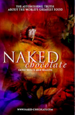 Naked Chocolate by David Wolfe and Shazzie - Finally, the truth about chocolate! No expense was spared to bring you Naked Chocolate, an extraordinary raw foods – superfoods book. Naked Chocolate is the product of years of research into superfood nutrition. Absolutely stunning full-color presentation. 2005, 248 pgs., softcover, full-color photographs throughout the entire book. David Wolfe, America's leading nutrition guru, and Shazzie, the UK's most progressive health educator, have teamed up to bring you Naked Chocolate!Yes, raw, organic chocolate is good for you. In fact, David Wolfe and Shazzie demonstrate it is the best food ever. In these pages, you will discover the astonishing truth about the world's greatest food.Chocolate grows on trees! All chocolate comes from cacao beans – the seeds of the cacao fruit, which grows on a jungle tree. Cacao beans taste like dark chocolate, because they are dark chocolate! David Wolfe and Shazzie introduce the phenomenal, enlightening power of cacao beans engulfed in the magic of chocolate! And they show us how to use extraordinary chocolate recipes to achieve higher and higher states of pure joy!Naked Chocolate contains over 60 original, enticing, mouthwatering chocolate recipes. Learn and experience how chocolate – The Food of the Gods – allows you to:– Eat more while losing weight – Heal and soothe your heart – Increase your sensuality, love life and beauty – Double your joy – Nourish your intellect – Attract prosperity into your life – Experience the world's most wonderful aphrodisiacs – Create the most outrageous beverages, desserts, cakes, ice creams and other fantastic tasty delights