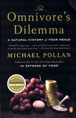"""The Omnivore's Dilemma by Michael Pollan - Reviewed by Pamela Kaufman. Michael Pollan examines what he calls """"our national eating disorder"""" (the Atkins craze, the precipitous rise in obesity) in this remarkably clearheaded book. It's a fascinating journey up and down the food chain, one that might change the way you read the label on a frozen dinner, dig into a steak or decide whether to buy organic eggs. You'll certainly never look at a Chicken McNugget the same way again.Pollan approaches his mission not as an activist but as a naturalist: """"The way we eat represents our most profound engagement with the natural world."""" All food, he points out, originates with plants, animals and fungi. """"[E]ven the deathless Twinkie is constructed out of… well, precisely what I don't know offhand, but ultimately some sort of formerly living creature, i.e., a species. We haven't yet begun to synthesize our foods from petroleum, at least not directly.""""Pollan's narrative strategy is simple: he traces four meals back to their ur-species.He starts with a McDonald's lunch, which he and his family gobble up in their car. Surprise: the origin of this meal is a cornfield in Iowa. Corn feeds the steer that turns into the burgers, becomes the oil that cooks the fries and the syrup that sweetens the shakes and the sodas, and makes up 13 of the 38 ingredients (yikes) in the Chicken McNuggets.Indeed, one of the many eye-openers in the book is the prevalence of corn in the American diet; of the 45,000 items in a supermarket, more than a quarter contain corn. Pollan meditates on the freakishly protean nature of the corn plant and looks at how the food industry has exploited it, to the detriment of everyone from farmers to fat-and-getting-fatter Americans.Besides Stephen King, few other writers have made a corn field seem so sinister.Later, Pollan prepares a dinner with items from Whole Foods, investigating the flaws in the world of """"big organic""""; cooks a meal with ingredients from a small, utopian"""