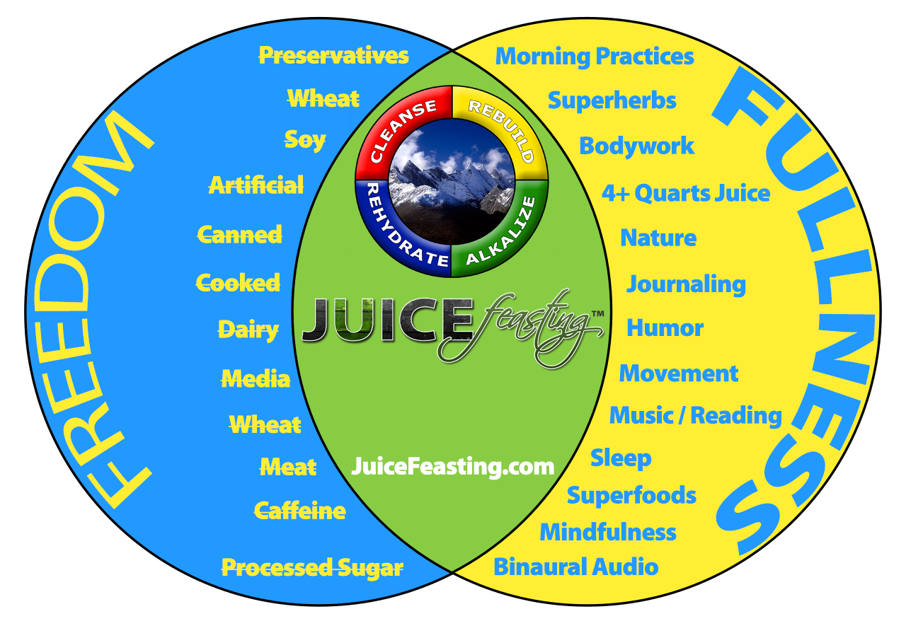 """Juice Feasting: Freedom and Fullness Integrated""  by Master Coach David Rainoshek, M.A."