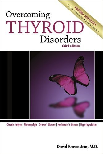 overcoming thyroid disorders - By David Brownstein, M.D.Dr. Brownstein's NEW Book, Overcoming Thyroid Disorders, 2nd Edition has been completely updated. This book shows how a holistic treatment program can effectively treat: Hypothyroidism Graves' Disease Hashimoto's Disease Fibromyalgia Chronic Fatigue Syndrome Arthritis And Much More! Overcoming Thyroid Disorders provides information on safe and effective natural therapies to help the body heal itself.Dr. Brownstein provides over 30 actual case studies of his success in treating thyroid disorders. Overcoming Thyroid Disorders contains information on: Natural Thyroid Hormone Bioidentical Natural Hormones Diet Vitamins and Minerals Important for Thyroid Function Detoxification And Much More! Table of Contents 1. Introduction 2. Hypothyroidism 3. Poor T4 Converters and Thyroid Hormone Resistance 4. Thyroid Replacement Options 5. Hyperthyroidism and Autoimmune Disorders 6. Fibromyalgia and Chronic Fatigue Syndrome 7. Adrenal and Gonadal Hormones and their Relationship to the Thyroid 8. Diet 9. Detoxification 10. Coagulation Disorders 11. Iodine and the Thyroid Gland 12. Final Thoughts