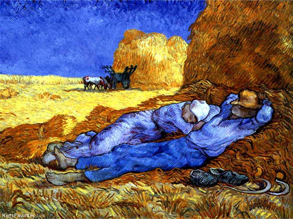 "Vincent Van Gogh, ""The Siesta"""