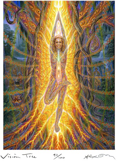 "Alex Grey, ""Vision Tree.""  Find more at  www.AlexGrey.com"