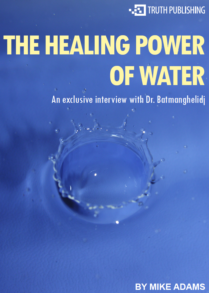"the healing power of water - by Mike AdamsPhysicians rarely promote the curative properties of H2O, but Dr. Batmanghelidj, M.D. has studied water's effect on the human body and has found it to be one of the best pain relievers and preventative therapies in existence. I was one of the last people to interview the late Dr. Batmanghelidj, and I listened in awe as he shared his research and stories about ""The Healing Power of Water.""In a fascinating one-hour phone conversation, Dr. B. shares:+ Which common ailments and ""diseases"" are actually caused by dehydration+ Why many doctors use water-regulating antihistamines to alleviate pain+ How Dr. Batmanghelidj unintentionally discovered water's healing properties+ Why most people are chronically dehydrated and suffer from symptoms of dehydration that are labeled ""diseases""+ Which ingredients in soft drinks deplete the body's water reserves+ Why thirst is not a reliable indicator of dehydration+ Why the body produces cholesterol and how water keeps it in balance+ Why Dr. Batmanghelidj believes the public is being mislead about AIDS+ How dehydration impairs mental functioning+ Why some organizations want to withhold alternative health information from the public+ How lack of water causes depression+ Why popular beverages are no substitute for water+ How dehydration causes the vascular system to constrict, leading to hypertension+ How to recognize signs that your body is starting to dehydrate+ Why restaurants push you to drink disease-promoting soft drinks+ Why and how water effectively treats pain and inflammation"
