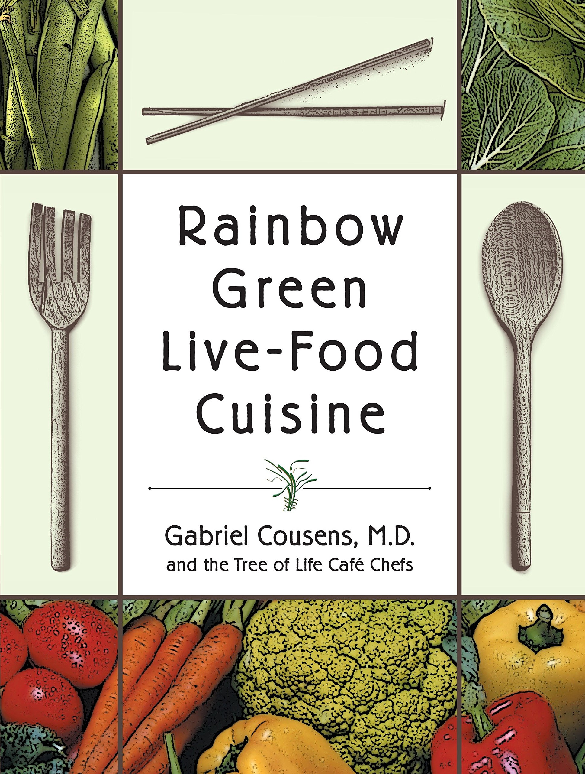 rainbow green live food cuisine - By Dr. Gabriel Cousens, M.D.Medical researchers have found that a high-fat, high-sugar diet, combined with environmental pollutants and stress, can lead to a buildup of toxins in the body collectively known as chronic degenerative disease. Here holistic physician Gabriel Cousens addresses the dangers of foods that have been genetically modified, treated with pesticides, microwaved, and irradiated—and presents an alternative diet of whole, natural, organic, and raw foods that can reverse chronic disease and restore vitality.Both a guide to natural health and a cookbook, Rainbow Green Live-Food Cuisine features over 250 revolutionary vegan recipes from chefs at the Tree of Life Cafe, from Buttery Butternut Porridge to Raw-violis to Carob Coconut Cream Eclairs. Combining modern research on metabolism, ecological consciousness, and a rainbow of live foods, Dr. Cousens dishes up comprehensive, practical, and delectable solutions to the woes of the Western diet.