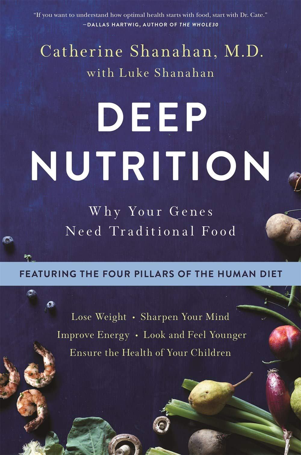 "Deep Nutrition: Why Your Genes Need Traditional Food - by Catherine Shanahan, M.D.A self-published phenomenon examining the habits that kept our ancestors disease-free―now with a prescriptive plan for ""The Human Diet"" to help us all live long, vital, healthy lives.Physician and biochemist Cate Shanahan, M.D. examined diets around the world known to help people live longer, healthier lives―diets like the Mediterranean, Okinawa, and ""Blue Zone""―and identified the four common nutritional habits, developed over millennia, that unfailingly produce strong, healthy, intelligent children, and active, vital elders, generation after generation. These four nutritional strategies―fresh food, fermented and sprouted foods, meat cooked on the bone, and organ meats―form the basis of what Dr. Cate calls ""The Human Diet.""Rooted in her experience as an elite athlete who used traditional foods to cure her own debilitating injuries, and combining her research with the latest discoveries in the field of epigenetics, Dr. Cate shows how all calories are not created equal; food is information that directs our cellular growth. Our family history does not determine our destiny: what you eat and how you live can alter your DNA in ways that affect your health and the health of your future children.Deep Nutrition offers a prescriptive plan for how anyone can begin eating The Human Diet to:*Improve mood*Eliminate cravings and the need to snack*Boost fertility and have healthier children*Sharpen cognition and memory*Eliminate allergies and disease*Build stronger bones and joints*Get younger, smoother skinDeep Nutrition cuts through today's culture of conflicting nutritional ideologies, showing how the habits of our ancestors can help us lead longer, healthier, more vital lives."