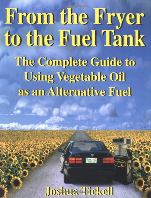 from the fryer to the fuel tank : the complete guide to using vegetable oil as an alternative fuel - By Joshua TickellFrom the Fryer to the Fuel Tank is the first and only book that details all aspects of running diesel engines on vegetable oil. Includes information on biodiesel, the diesel fuel substitute made from new or used vegetable as well as information on running any diesel engine on straight vegetable oil (SVO). This book is packed with history, information, instructions, photos, diagrams and resources. If you want to stop supporting Mid-East Petroleum oil, you must get this book.