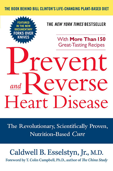 Prevent and Reverse Heart Disease - By Caldwell B. Esselstyn, M.D.Prevent and Reverse Heart Disease challenges conventional cardiology by posing a compelling, revolutionary idea-that we can, in fact, abolish the heart disease epidemic in this country by changing our diets. Drawing on the groundbreaking results of his twenty-year nutritional study, Dr. Caldwell B. Esselstyn, Jr., a former surgeon, researcher, and clinician at the Cleveland Clinic, convincingly argues that a plant-based, oil-free diet can not only prevent and stop the progression of heart disease, but also reverse its effects. Furthermore, it can eliminate the need for expensive and invasive surgical interventions, such as bypass and stents, no matter how far the disease has progressed. Dr. Esselstyn began his research with a group of patients who joined his study after traditional medical procedures to treat their advanced heart disease had failed. Within months of following a plant-based, oil-free diet, their angina symptoms eased, their cholesterol levels dropped significantly, and they experienced a marked improvement in blood flow to the heart. Twenty years later, the majority of Dr. Esselstyn's patients continue to follow his program and remain heart-attack proof. Prevent and Reverse Heart Disease explains the science behind these dramatic results, and offers readers the same simple, nutrition-based plan that has changed the lives of his patients forever.