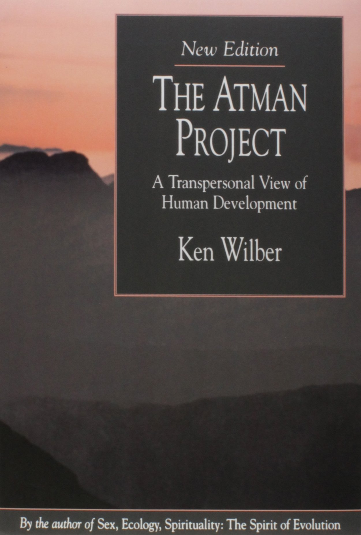 "the atman project - By Ken WilberThe point of this book: Awareness evolves in each of us – it unfolds in cycles and stages. These same stages play out over millenia for entire societies and cultures, as written in the next book, below (Up From Eden). The Atman Project attempts to integrate the work of developmental psychology with pre-egoic, pre-rational structures of consciousness with the experience of the mystical traditions with post-egoic, post-rational structures, to form a picture of how the individual evolves from structure to structure ""up"" the hierarchy, or ""holarchy"" in Wilber language, of these stages. There is a discussion of how ""Spirit"" ""involves"" itself downward through these structures and creates the imperative to evolve back up through them to Self-realization."