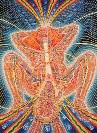 "Alex Grey, ""Birth."" Find more at www.AlexGrey.com"