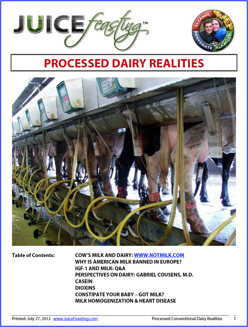 dairy - processed conventional realities - by David Rainoshek, M.A.David Rainoshek's file on Processed Conventional Dairy Realities. This is the correct perspective on Industrialized Dairy Agribusiness. This is typically the ONLY PERSPECTIVE on Dairy you will hear from the Plant-Based Vegan and Raw/Live Vegan Community. This is the only perspective on Dairy that I used to offer as a Raw/Live Vegan.What you won't hear from that community is what is contained in the next file, Dairy – Raw Organic Local.