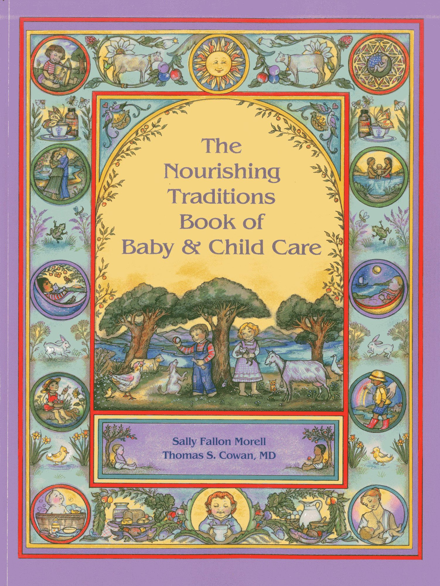 """The Nourishing Traditions Book of Baby & Child Care - by Sally FallonThe Nourishing Traditions Book of Baby & Child Care makes the principles of traditional nutrition available to modern parents.The book provides holistic advice for pregnancy and newborn interventions, vaccinations, breastfeeding and child development, as well as a compendium of natural treatments for childhood illnesses, from autism to whooping cough. The work of Rudulf Steiner supports the book's emphasis on the child's spiritual requirement for imaginative play.An Excellent Review from a Parent:To me, this is the most important resource to have for raising healthy children. I am pregnant with my 2nd child and follow the extremely nutrient dense pregnancy diet from this book. I've also followed the food introduction schedule for my first born (3 yo now) to ensure he grows up loving and eating REAL FOOD- not crap food laced with sugar and chemicals like cereal, processed/boxed/bagged """"foods"""", juice, waffles, artificially colored anything, pizza, etc which gives children zero vitamins and nutrition.My son eats and loves broccoli, salmon, chicken, eggs, fruits, beans, nuts, cod liver oil, avocados, coconut oil, bone broth soups...all because of what I've read in this wonderful book. I truly believe because he has grown up on these nutrient dense foods and healthy fats like CLO, coconut oil and real butter, his memory is astounding (brains REQUIRE fats to function optimally!).I am constantly referring to it not just for diet, but for alternative cures for childhood sickness, how to make your home as healthy as possible, baby and child care, vaccines, supplementation, child milestones, recipes, to name a few. If you want to have a truly healthy pregnancy and child, this is the book to follow."""