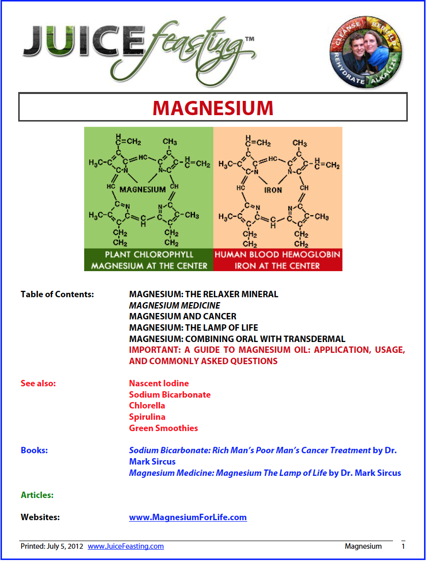 Magnesium - by David Rainoshek, M.A.Magnesium, the relaxer mineral, is one of the most important minerals for overall health. Magnesium is important for all muscles, heart function, and the digestive system. Magnesium deficiency is associated with a chronic stress state and decreased adrenaline function. More than 80 percent of the population is deficient in magnesium. Magnesium is very important in the treatment of all people with chronic exhaustion, adrenal exhaustion, and depression. It is very important for the optimization of neurotransmitter function.Almost everyone in North America is deficient in magnesium. This is particularly true with people who are experiencing tension, anxiety, adrenal exhaustion, chronic fatigue, constipation, and muscle spasm. Magnesium is very good for muscle cramps and spasm, particularly when people are fasting. Magnesium activates many enzyme systems and is involved in neurotransmitter production. It helps regulate temperature control in the body It is needed for synthesis in protein. Magnesium is used by the pituitary gland as part of its regulation of parathyroid, adrenal, and thyroid function. It is a key enzymatic mineral used in almost 100 different enzyme systems in the Krebs cycle of making energy in the mitochondria of our cells.