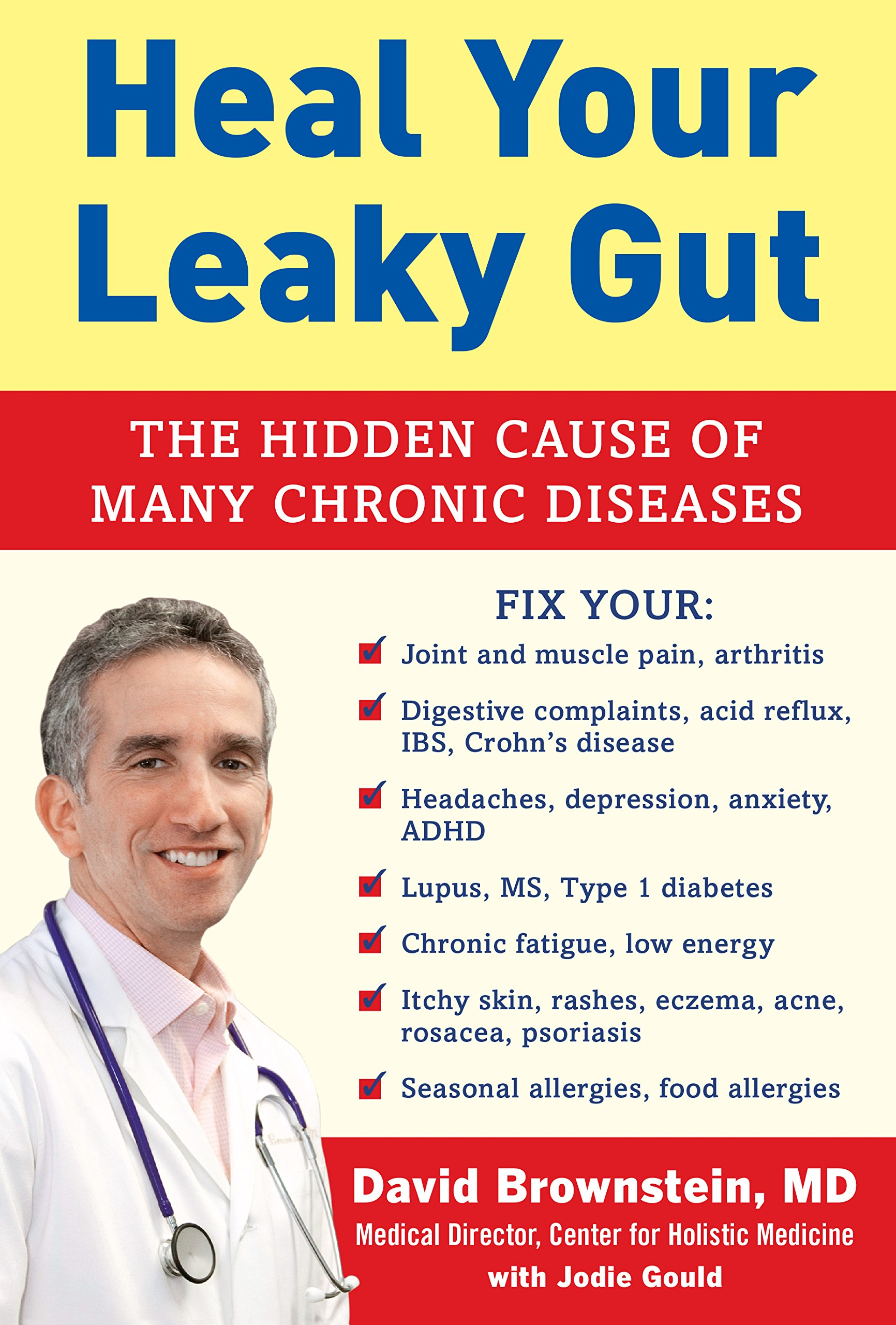 Heal Your Leaky Gut: The Hidden Cause of Many Chronic Diseases - By Dr. David Brownstein, MDMost illnesses start in the gut, including many you would not even think of!And if your gut isn?t functioning right, it sets the stage for illness and disease. The gut - the gastrointestinal system - is designed to absorb nutrients that support our bodies and help us make energy, and get rid of things that we don't need or are toxic. But what happens when the system breaks down? Leaky gut syndrome (LGS) occurs when the lining of the small intestine is damaged, allowing foreign compounds to escape into your bloodstream, which weakens your immune system and triggers autoimmune reactions.Traditional physicians don't understand what LGS is - much less how to diagnose and treat it. In fact, it is estimated that more than 80 percent of people with chronic illnesses have leaky gut, an overgrowth of bad bacteria, or not enough good bacteria.Here are some symptoms that may be caused by LGS:+ Digestive complaints, acid reflux, IBS, Crohn?s disease+ Joint and muscle pain, arthritis+ Obesity and food allergies+ Headaches, depression, anxiety, ADHD+ Itchy skin, rashes, eczema, acne, rosacea, psoriasisIn Heal Your Leaky Gut, Dr. David Brownstein will explain how the gut - like the brain, heart, and liver - needs to be properly nourished in order for it to function correctly. Simply stated, if your gut is not healthy, your immune system is going to suffer.Improving your gut health and taking fewer drugs will help you feel better and look younger, improve your brain function, and treat myriad medical conditions. This book will give you all the information you need to change what you are now doing so you can have optimal gut health and, as a result, overall health and well-being.