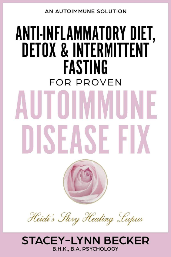 An Autoimmune Solution: Anti-Inflammatory Diet, Detox & Intermittent Fasting for PROVEN Autoimmune Disease Fix - By Stacey-Lynn BeckerHaving been in immaculate physical shape and a body builder, Heidi had been at a loss – for 10 years – as to what to do to reclaim her health. Heidi began her healing protocol after a fluke encounter, that finally led her to her answer.The solution she used promotes natural healing at the SOURCE of the problem. With the right autoimmune protocol, you can QUICKLY begin to reduce painful symptoms from lupus, chronic fatigue, fibromyalgia, arthritis, and other A.I. disease.Within 4 Months – Heidi Reversed Her SymptomsTOPICS Include:Top Supplements for Healing Lupus and Autoimmune DiseaseOverview – a Multi-Disciplined Approach Myself and Others Used to HealLupus and Pregnancy - What to Know and Do if You are Considering Having a BabyAn Eastern Healing Practice to Reduce Inflammation and Boost EnergyA CAUSAL LINK TO AUTOIMMUNE DISEASE – Could This Be Causing or Worsening Your Symptoms? Healthy Food Substitutes - in Place of Unhealthy Ones!PLUS - Anti-Inflammatory Recipes with Delicious Side-Dish Favourites