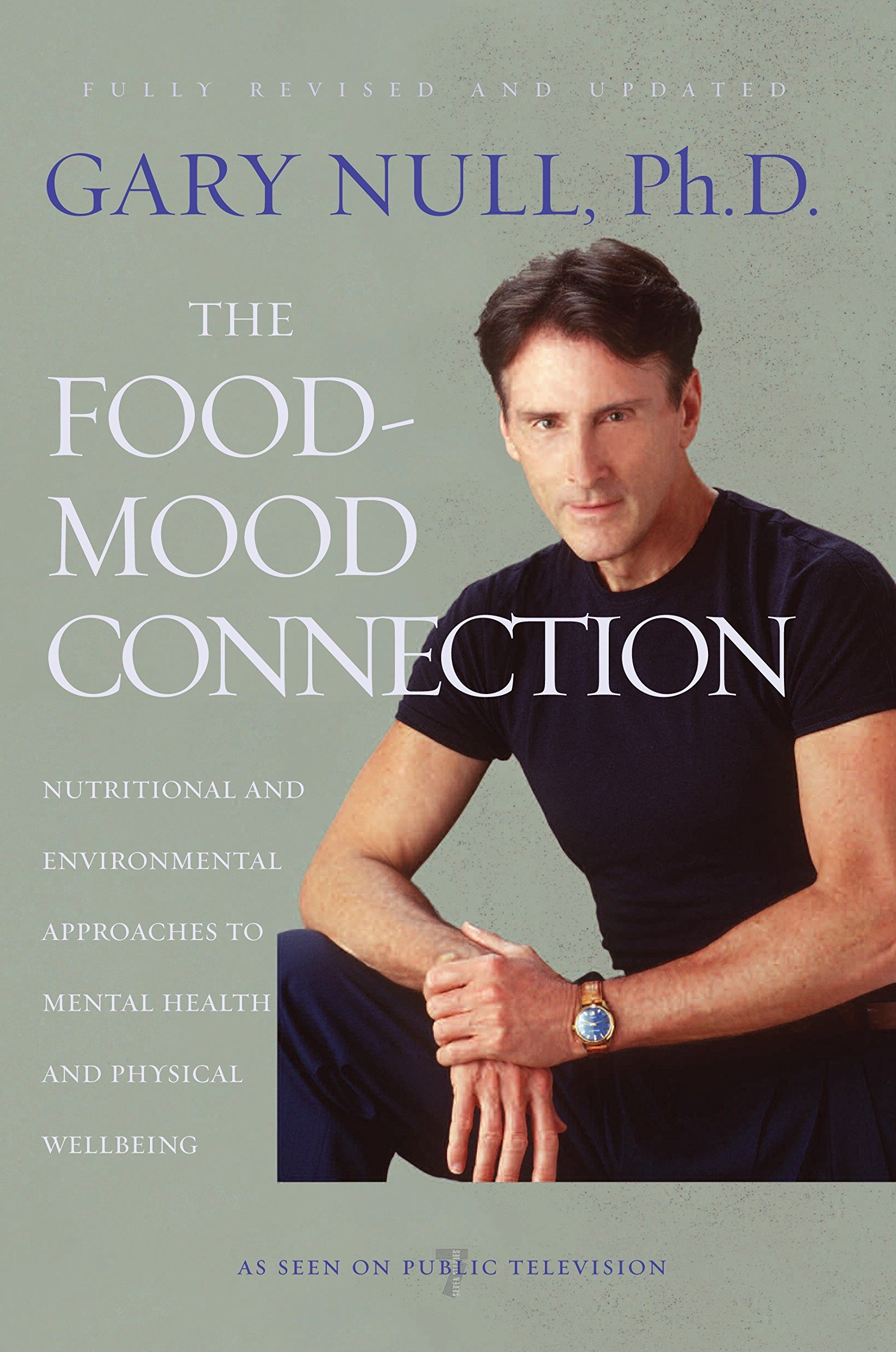 "the food-mood connection: nutrition-based and environmental approaches to mental health and physical wellbeing - By Gary Null, PhDNow, at a time when the effects of nutrition on mental health are becoming increasingly recognized and accepted by the general public, comes a completely revised tome from an early advocate of the subject: The Food-Mood Connection, by bestselling health and nutrition expert Gary Null, who was affectionately dubbed ""the new Mister Natural"" by Time magazine.Drawing from up-to-the-minute research and patient testimonials, Null reveals how alternative, nutrition-based approaches can effectively treat many mental disorders, chronic conditions, and a variety of commonly misdiagnosed organic conditions. With participation from more than sixty-five alternative practitioners, this edition includes new chapters, protocols for health, updates on topics ranging from alcoholism and depression to food allergies and PMS, plus revised supplementary sections on Prozac and autism."