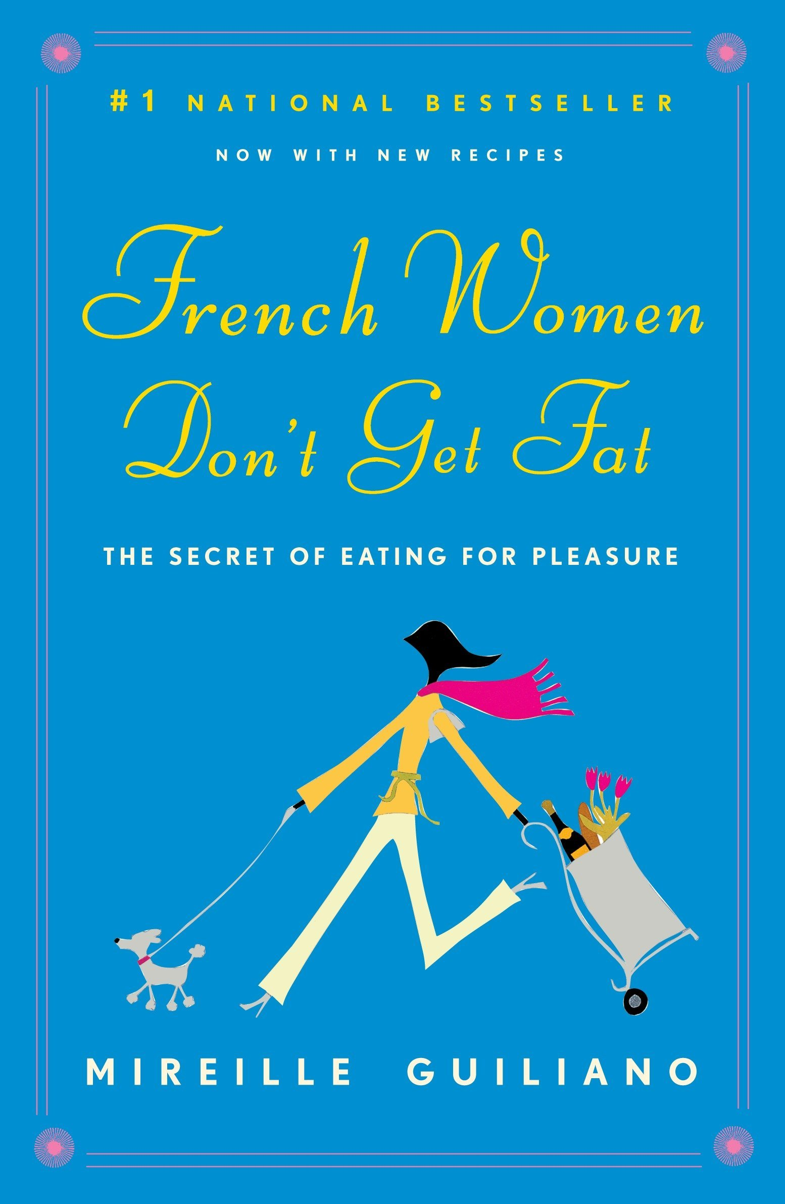 "why french women don't get fat - By Mireille GuilianoStylish, convincing, wise, funny, and just in time: the ultimate non-diet book, which could radically change the way you think and live – now with more recipes.French women don't get fat, even though they enjoy bread and pastry, wine, and regular three-course meals. Unlocking the simple secrets of this ""French paradox"" – how they enjoy food while staying slim and healthy – Mireille Guiliano gives us a charming, inspiring take on health and eating for our times.For anyone who has slipped out of her Zone, missed the flight to South Beach, or accidentally let a carb pass her lips, here is a positive way to stay trim, a culture's most precious secrets recast for the twenty-first century. A life of wine, bread – even chocolate – without girth or guilt? Pourquoi pas?"