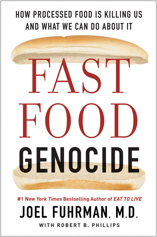 Fast Food Genocide - by Dr. Joel Fuhrman, M.D.From the #1 New York Times bestselling author of Eat to Live and The End of Diabetes, an unflinching, provocative exploration of how our food is killing us and the ways in which we are unwitting participants in an unprecedented and exploding health crisis.Fast food is far more than just the burgers, fries, and burritos served at chain restaurants; it is also the toxic, human-engineered products found in every grocery store across America. These include: cold breakfast cereals; commercial and preserved (deli) meats and cheeses; sandwich breads and buns; chips, pretzels, and crackers; fried foods; energy bars; and soft drinks. Fast foods have become the primary source of calories in the United States and consequently the most far-reaching and destructive influence on our population. The indisputable truth is that our highly processed diet is the source of a national health crisis that is exploding into a genocide with unseen tragic implications.Heart attacks, strokes, cancer, obesity, ADHD, autism, allergies, and autoimmune diseases all have the same root cause – our addiction to toxic ingredients. New York Times bestselling author, board-certified physician, nutritional researcher, and leading voice in the health field Joel Fuhrman, M.D., explains why the problem of poor nutrition is deeper, more serious, and more pervasive than anyone imagined.Fast Food Genocide draws on twenty-five years of clinical experience and research to confront our fundamental beliefs about the impact of what we eat. This book identifies issues at the heart of our country's most urgent problems. Fast food kills, but it also perpetuates bigotry and derails the American dream of equal opportunity and happiness for all. It leaves behind a wake of destruction creating millions of medically dependent and sickly people burdened with poor-quality lives.The solution hiding in plain sight — a nutrientdense healthful diet — can save lives and enable humans to reach their intellectual potential and achieve successful and fulfilling lives. Dr. Fuhrman offers a life-changing, scientifically sound approach that can alter American history and perhaps save your life in the process.