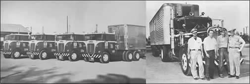 Frozen food express first diesel fleet to haul frozen goods from the south to the north. Founded by my father in the 1940's