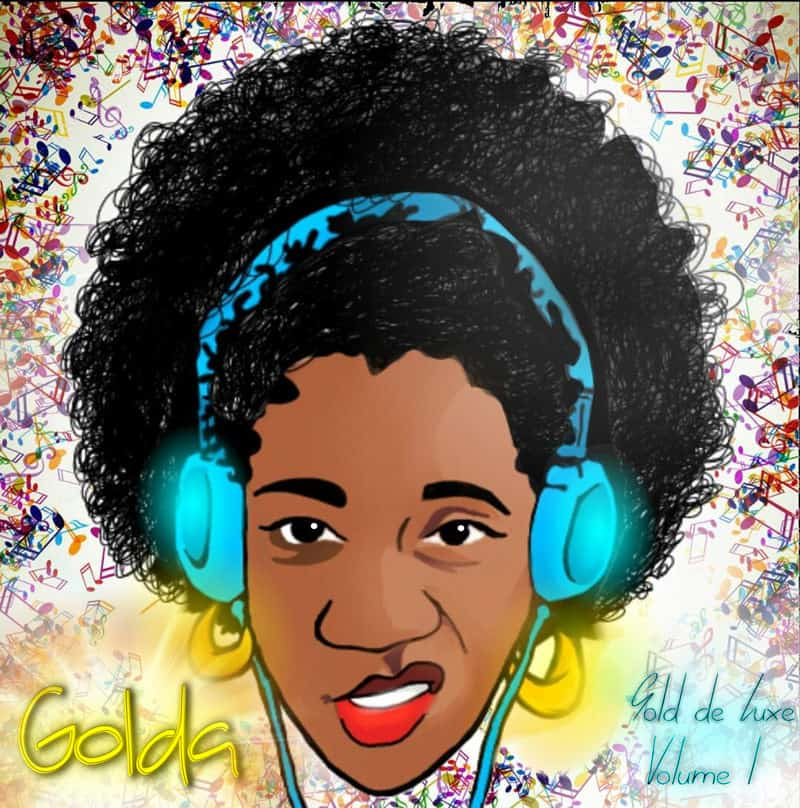 "Album art for Golda's solo album ""Gold de Luxe Vol 1"" (2014)"
