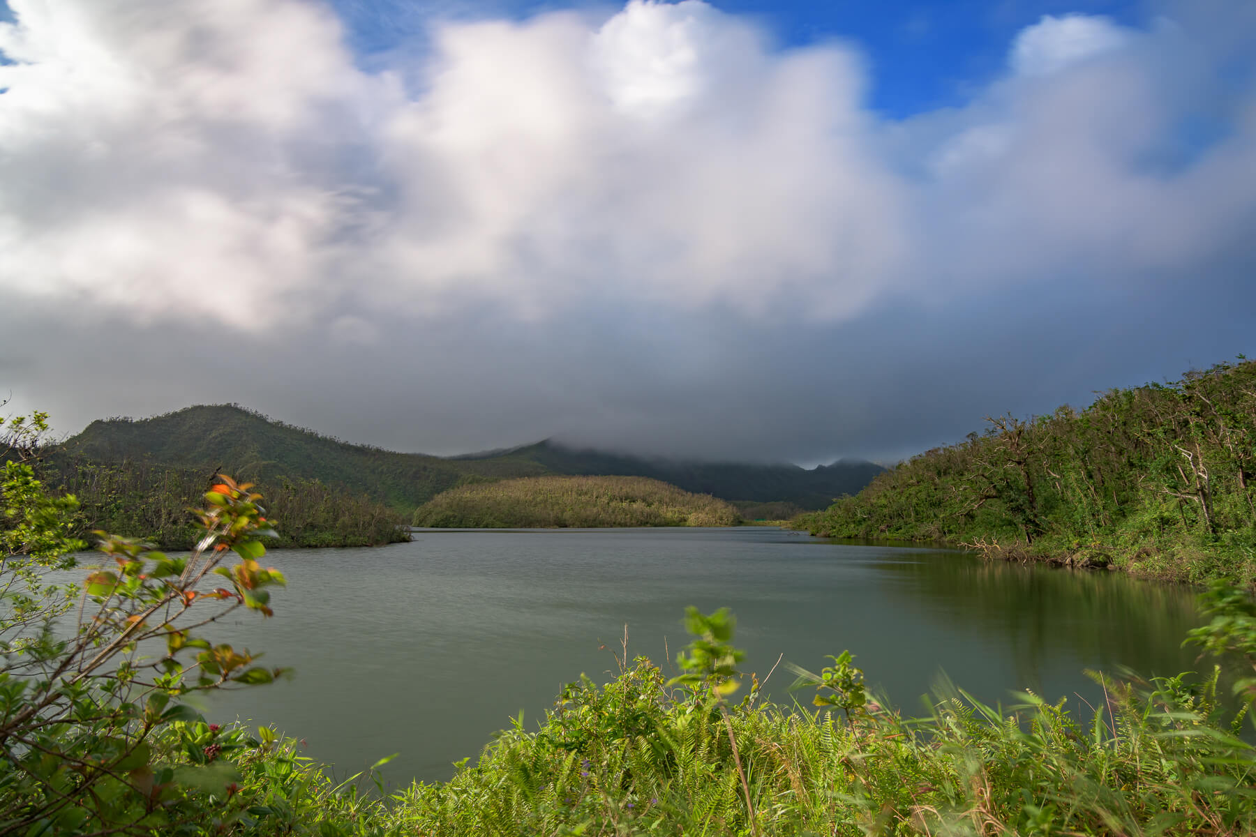 Cloudy skies at Freshwater Lake.