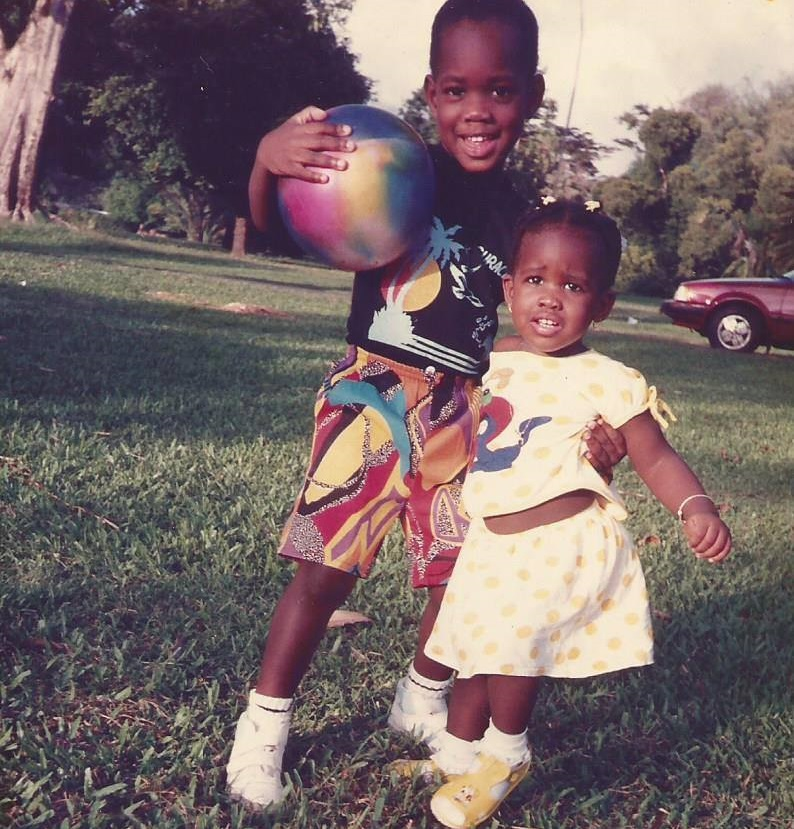 My sister and I at the Botanic Gardens, about 30 years ago!