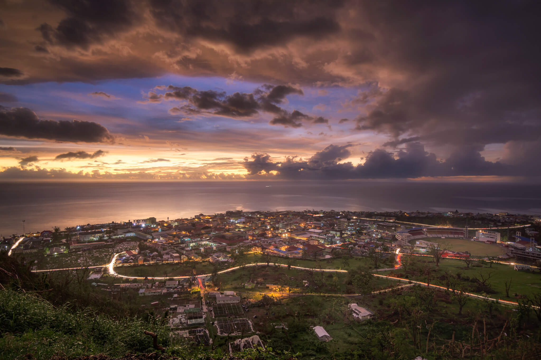 © 2018 Yuri A Jones | Ominous Sunset, captured from Morne Bruce, Dominica