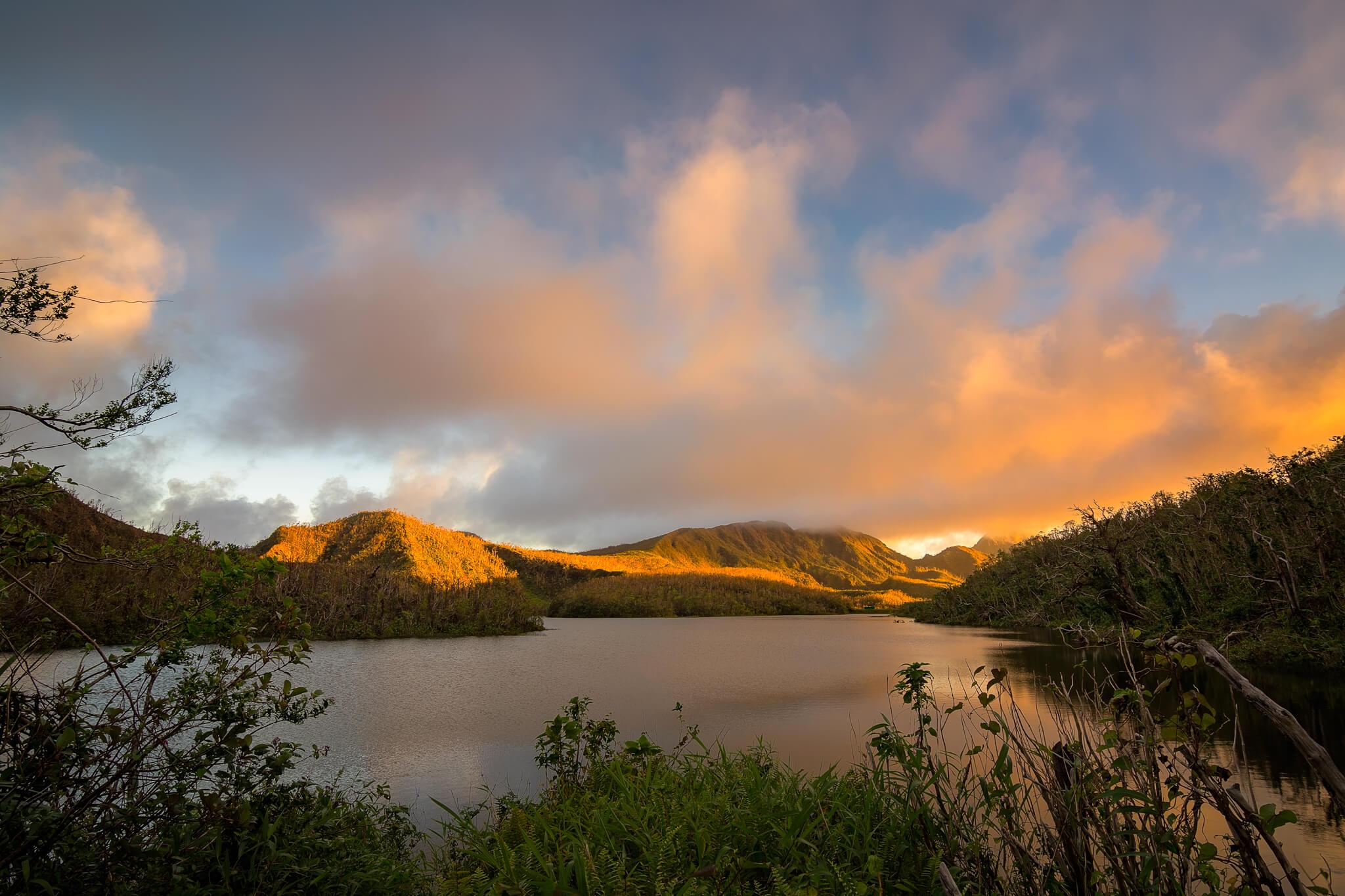 © 2018 Yuri A Jones   Fire on the Lake, captured Freshwater Lake, Laudat, Dominica