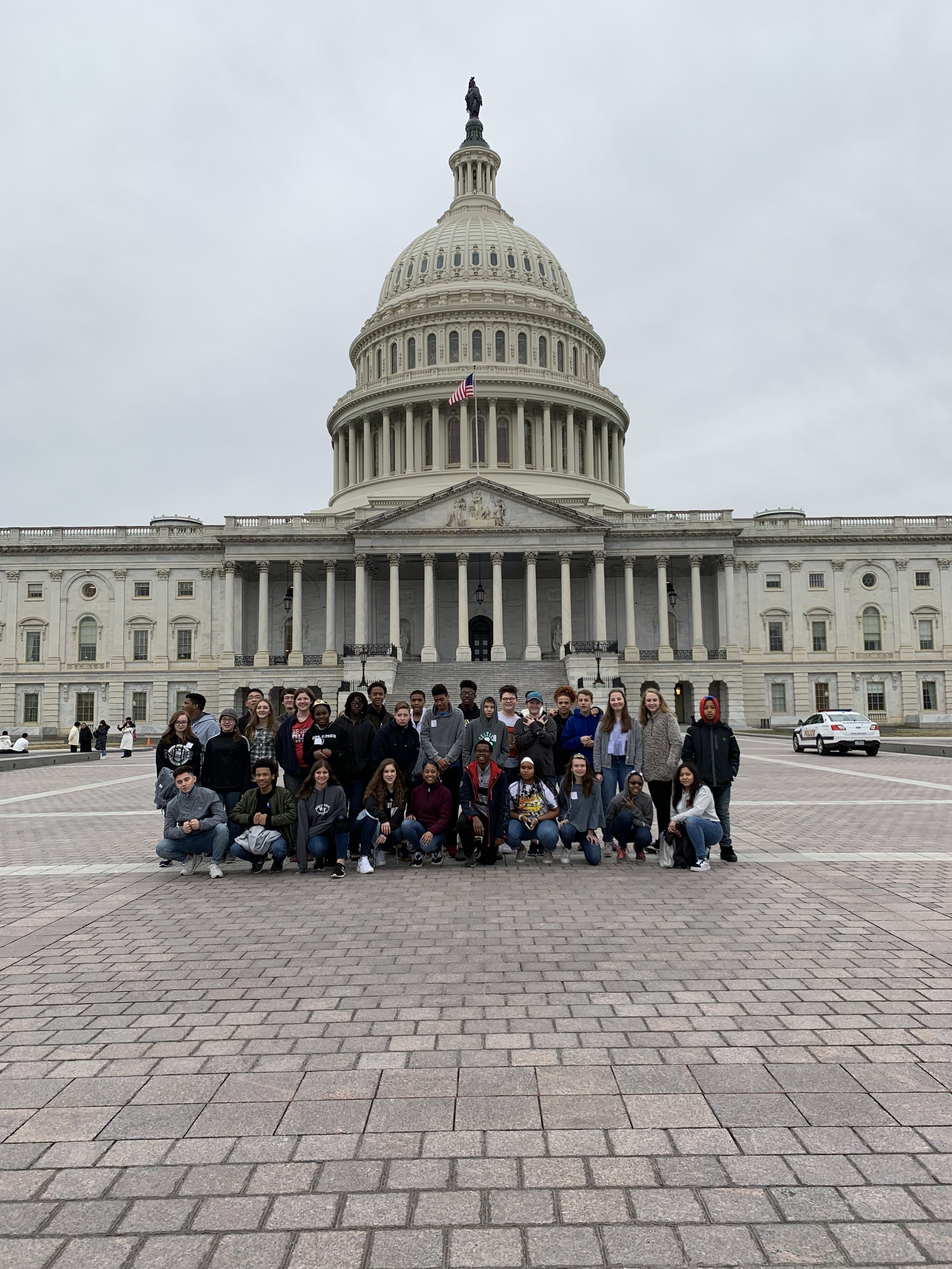 Washington, D.C. - Our eighth graders have the time of their lives visiting the nation's capitol. Each year is slightly different but always includes trips to the Capitol Building, Supreme Court, Nighttime Monument Walk, Supreme Court, and Museum of Natural History, Arlington National Cemetery with participation in the wreath laying ceremony, plus much more!