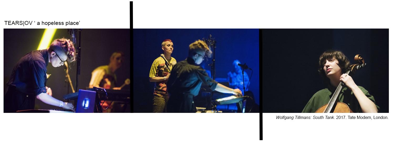 Tears|Ov at   Wolfgang Tillmans: South Tanks  . 2017. Lori E Allen. Deborah Wale. Katie Spafford. 2019. Photos: Alex Wojcik.