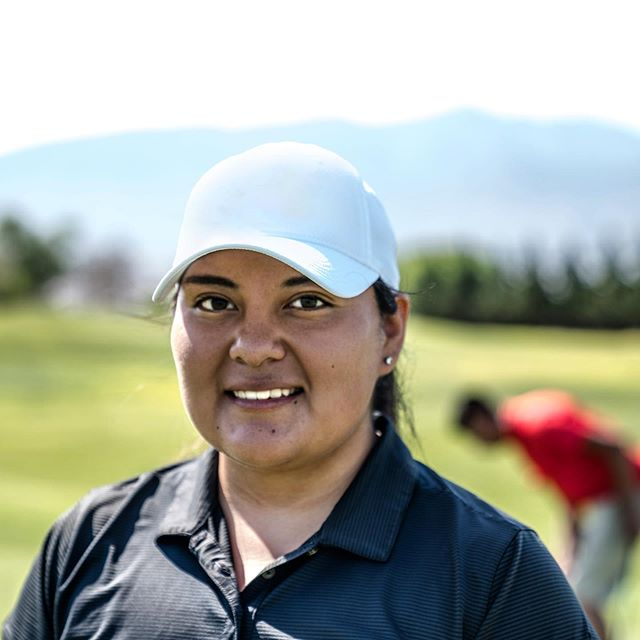 Had the pleasure to play against Marta, an amazing woman who started golfing to find a sport she could beat her 3 brothers at. I can tell you from the putts she sank; there is no way she doesn't beat them on the course! #womencrushingwednesday #lanakila #lookgoodplaygood