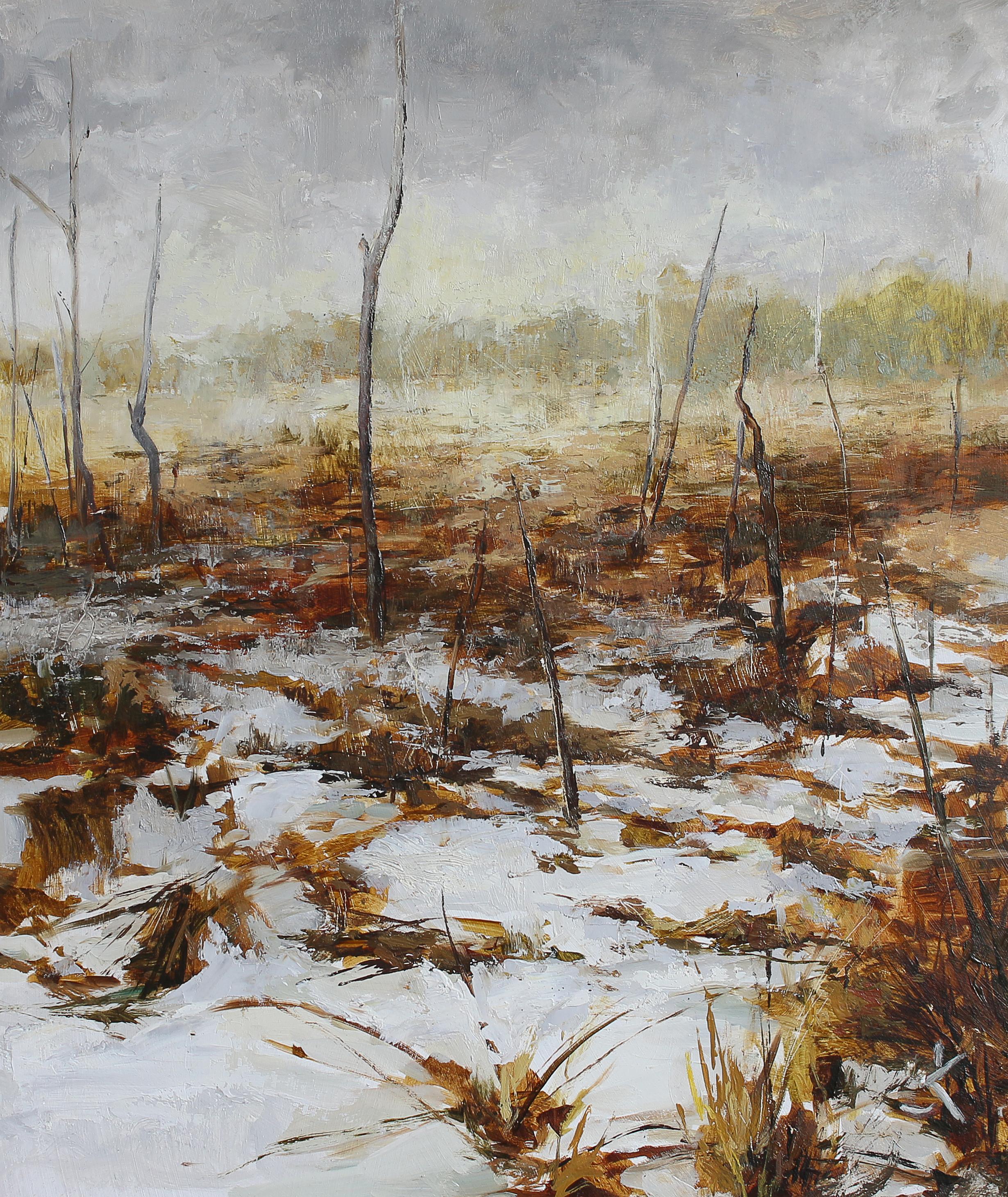 "Swamp of Dubrava, 11.8"" x 13.7"" (30 x 35 cm), oil on canvas"
