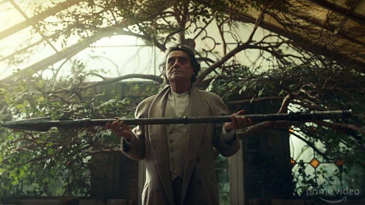 Ian McShane as Mr Wednesday in American Gods S2
