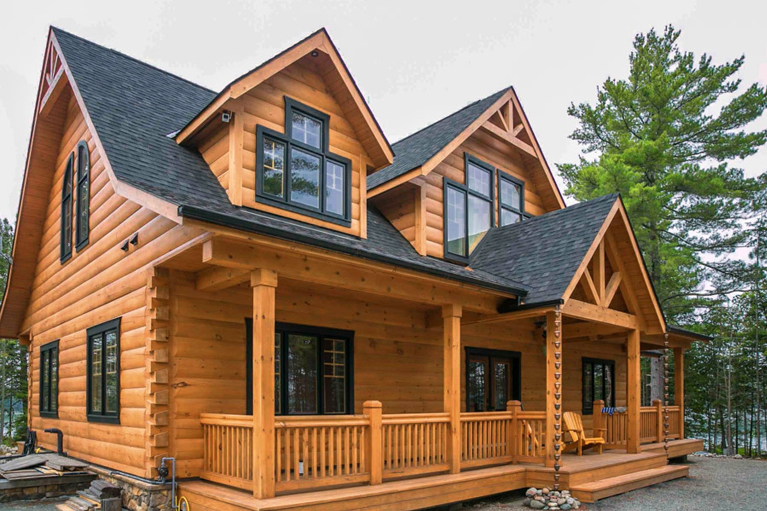 Elliot Lake Custom Log Home -