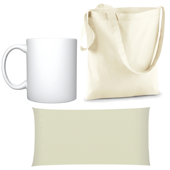 Merchandise - Printing mugs, totes and pillow cases