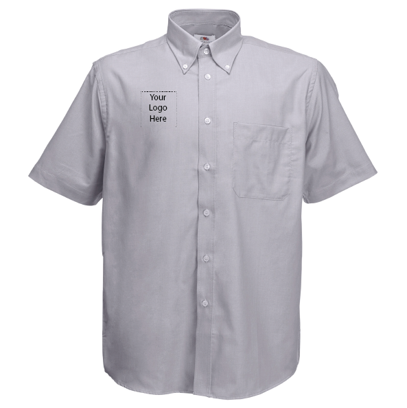grey short sleeved your logo here.png