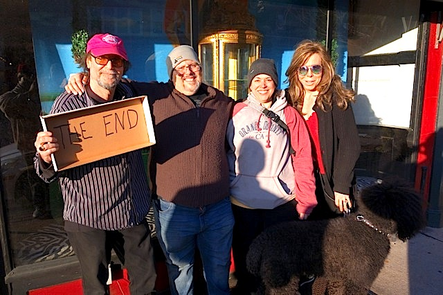 The final moments of Gold Million Records, previously known as Plastic Fantastics Records. (left to right: Harold Gold, Eric Shepard, Sara Anderson, Max Million, & Leo.)
