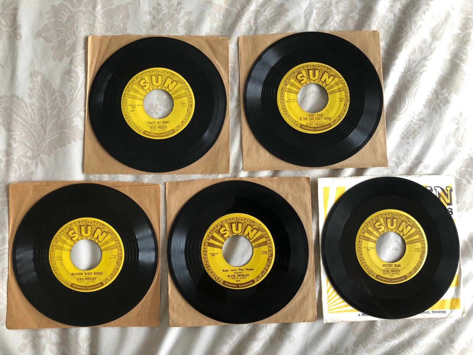Elvis Sun Records 45s