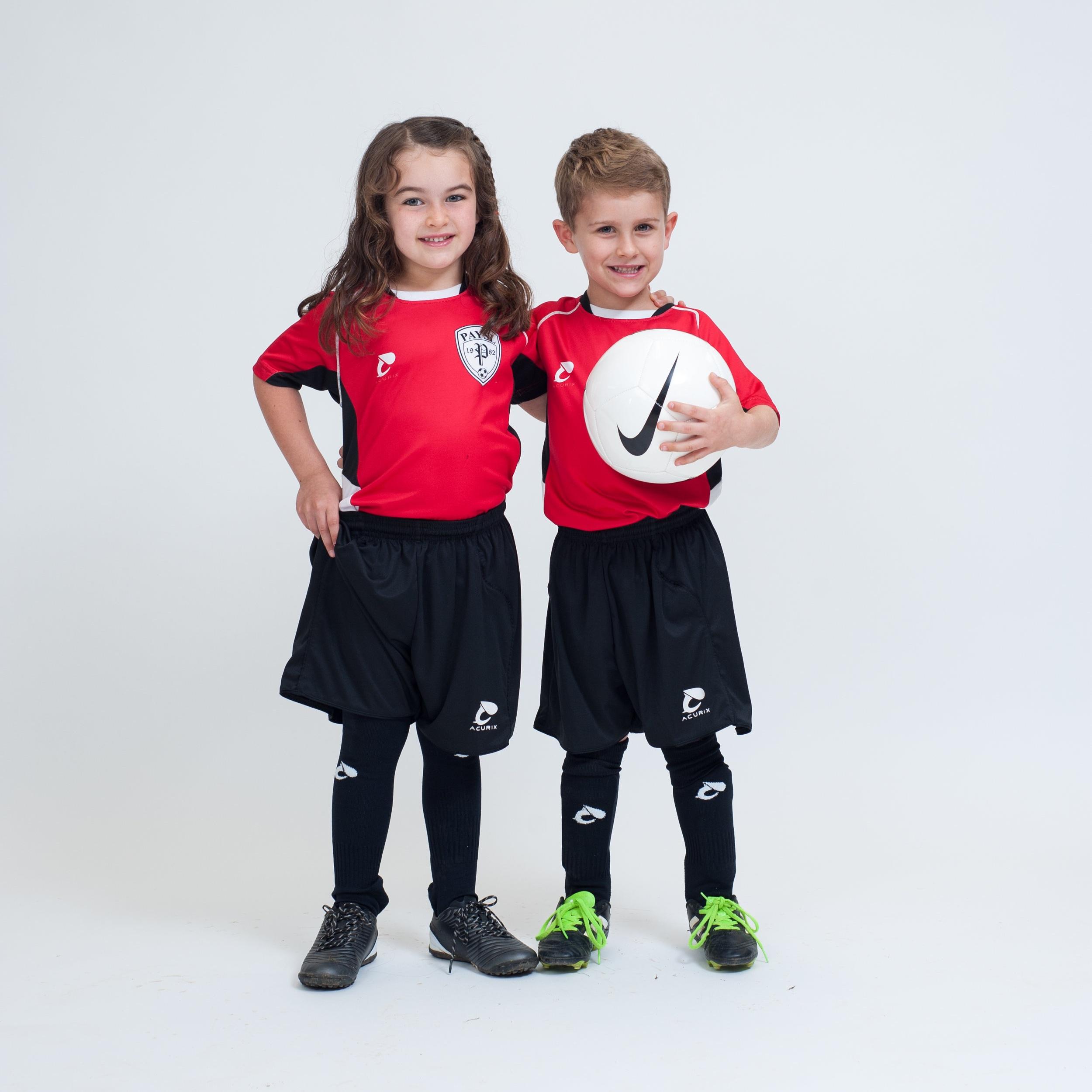 PAYSL Recreational Soccer: 4U–6U uniforms (colors vary)