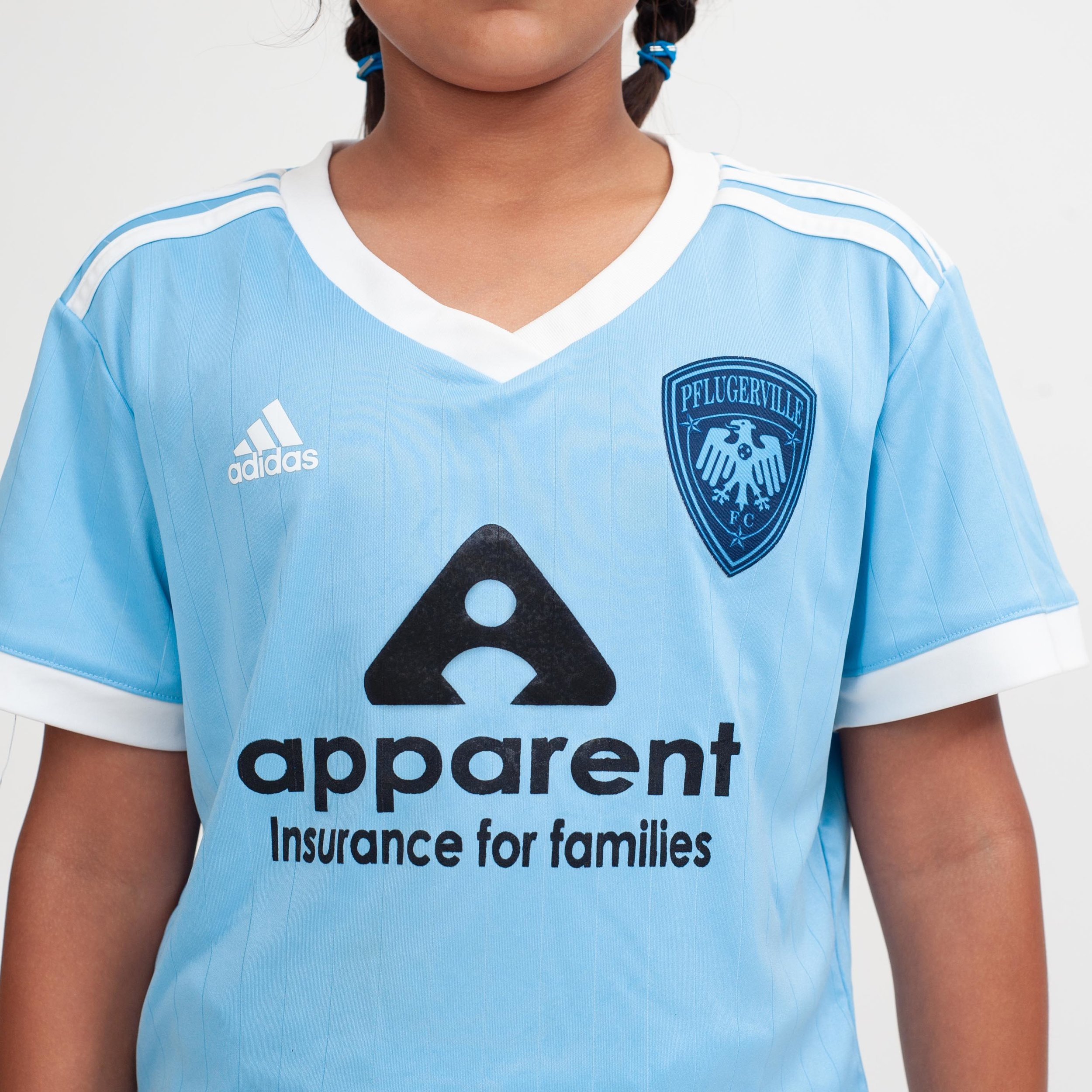 Pflugerville FC Select: Away (front)  Sponsor my vary.